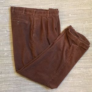 Jos A Banks brown wide wale corduroy cuffed pants